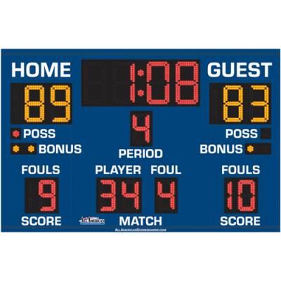 Multi-Sport Scoreboard 5' x 8' Main Image