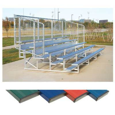 Powder Coated Bleachers with Chain Link Fencing Main Image