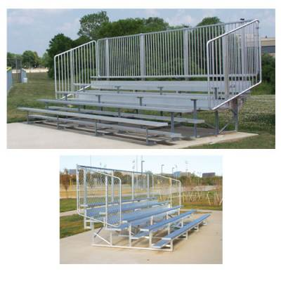 Bleachers with Vertical Picket Railing Main Image