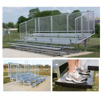 Preferred Bleachers with Vertical Picket Railing Main Image