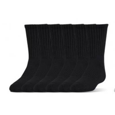 UA 6-Pack Charged Cotton 2.0 Crew Socks Main Image