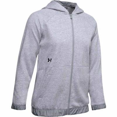 UA Women's Hustle Fleece Full-Zip Hoodie Main Image