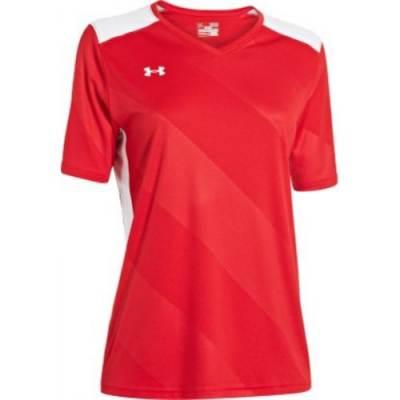 Under Armour® Fixture Women's Short-Sleeve V-Neck Soccer Jersey Main Image