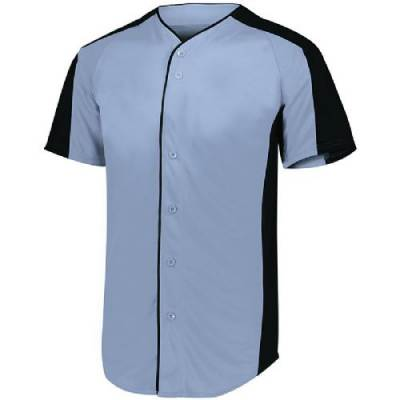 Augusta Youth Full Button Baseball Jersey Main Image