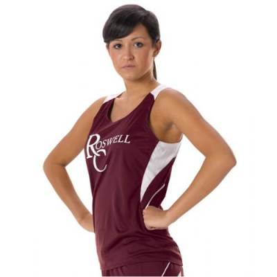 Alleson Girl's Loose Fit Track Tank Main Image