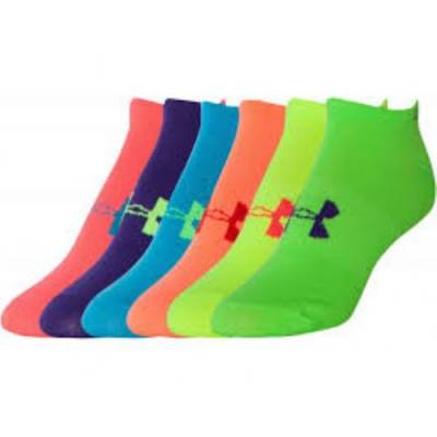 Under Armour® Girls' No-Show Socks (6-Pack) Main Image