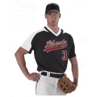 Alleson Adult V-Neck Baseball Jersey Main Image