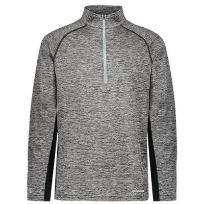 Holloway Youth Electrify Coolcore 1/2 Zip Pullover Main Image