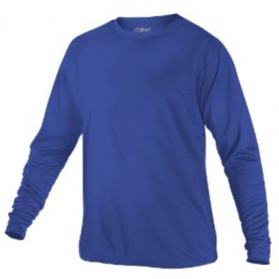 Alleson Youth Tech Crew Neck Long Sleeve T-Shirt Main Image