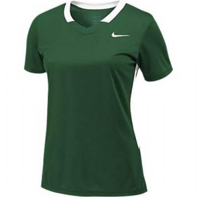 Nike Face-Off Stock Girls' Short-Sleeve V-Neck Lacrosse Jersey Main Image